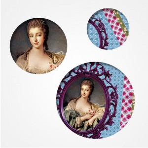 "Trio de badges ""Marquise"""