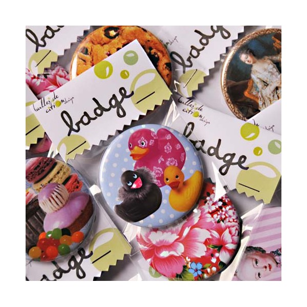 "Badge ""Smarties"" - Bulles De Citron Design Smarties Box Design"