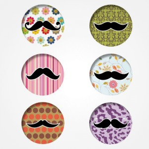 "Badges ""Belles Moustaches"""