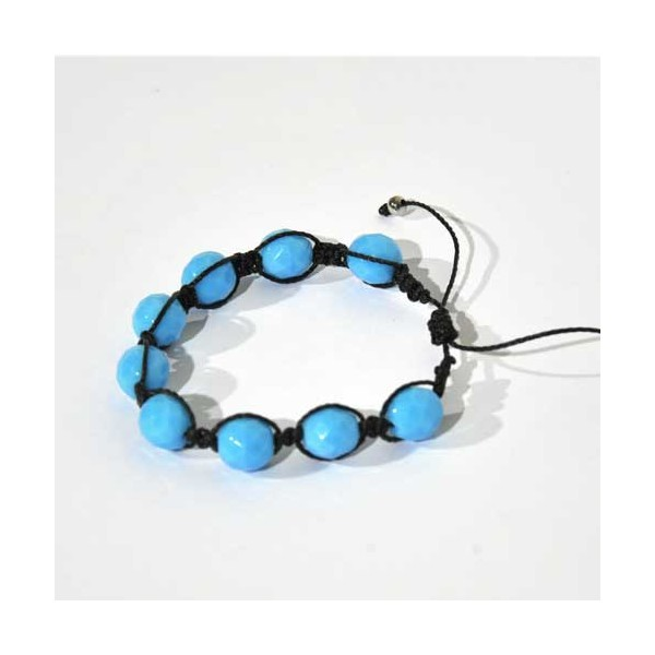 bracelet shamballa bleu bulles de citron design. Black Bedroom Furniture Sets. Home Design Ideas